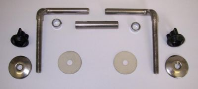 Offset / Cranked Stainless Steel Toilet Seat Hinges - 03065760